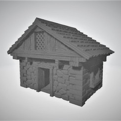 Download free 3D printing templates 28mm Scale Medieval Tudor Style Wargaming House / Building, BigMrTong