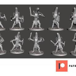 Download free 3D printing models Banana Knights with Falcion Swords & Shields - 10x Unique Poses, BigMrTong