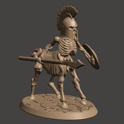 Download free 3D printer templates 28mm - Undead Skeleton Centaur Miniature, BigMrTong