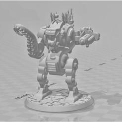 Descargar diseños 3D gratis Chaos Furibundus Pattern Style Dreadnought - 28mm Robot Sci-Fi, BigMrTong