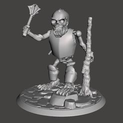 Download free 3D printer files Armoured Skeleton Troll Champion - 28mm Undead, BigMrTong