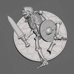 Download free 3D printing templates 28mm Skeleton Warrior Dead / Casualty, BigMrTong