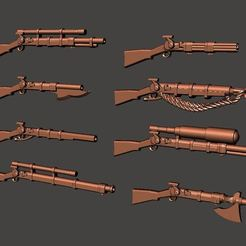 Download free 3D printing designs More 28mm Fantasy Arsenal of Muskets Percussion / Flintlock Firearms and Guns, BigMrTong