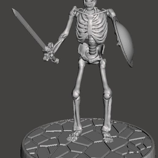 Download free 3D model Children of the Hydra Skeleton With Sword