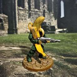 Download free 3D printer templates 28mm Banana Space Guard with Laser Gun, BigMrTong