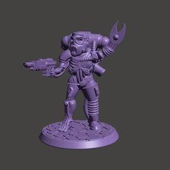 Descargar archivo 3D gratis Cyborg / Servidor 28mm Miniatura - Zombi Mecánico, BigMrTong