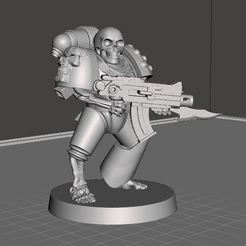 Download free 3D printing templates Undead Marine III, BigMrTong