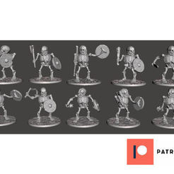 Download free 3D printing templates Orc Skeleton Warrior Marauders x 10 Poses / Squad / Unit, BigMrTong