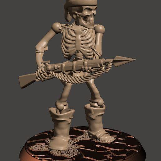 b5d40636d6476c96e8a50b2eb0bd7c98_display_large.JPG Télécharger fichier STL gratuit Guerrier Squelette Pirate 28mm avec Pistolet Harpoon • Design pour impression 3D, BigMrTong