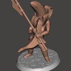 Descargar modelo 3D gratis Banana Knight v3 - Alabarda, BigMrTong