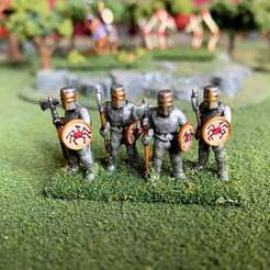 Download free STL file 15mm HotT Knights of Serbia Army - Knight Spears/Blades, BigMrTong