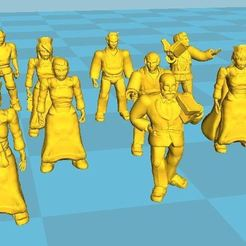 Download free 3D printer designs Hospital Staff Miniatures 25/28mm, BigMrTong