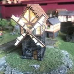 176f3a10c0e98f6538eb0b721aeeaefa_display_large.JPG Download free STL file Fantasy Wargames Windmill / Building 15mm • 3D printing model, BigMrTong