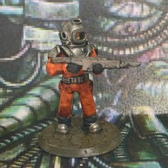 Download free 3D printing models 28mm Space Miner Guard Miniature, BigMrTong