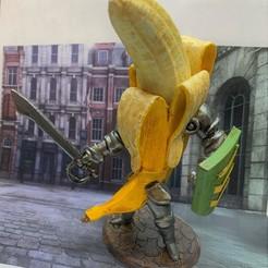 Descargar Modelos 3D para imprimir gratis Caballero del Plátano Cabeza de Burbuja, BigMrTong