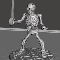 Impresiones 3D gratis Alfanje Pirata Guerrero Esqueleto de 28mm, BigMrTong