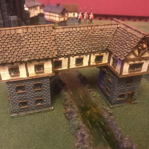 Descargar STL gratis Fantasy Wargames House / Edificio sobre el río 15mm, BigMrTong