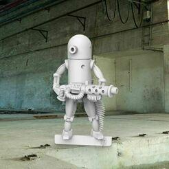 pentop.JPG Télécharger fichier STL gratuit Miniature de 28 mm de haut pour droïde de combat • Plan à imprimer en 3D, BigMrTong