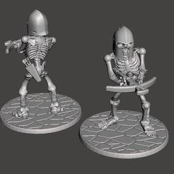 Download free 3D printer designs 28mm Skeleton Warrior with Crossbow, BigMrTong
