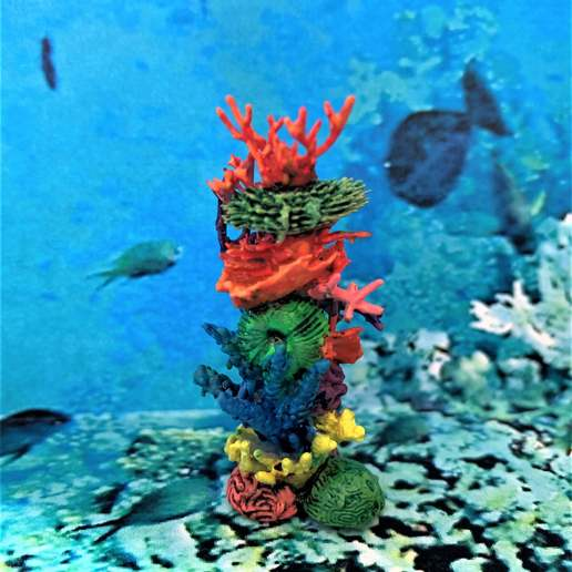 Download free STL file Coral Tower 28mm Scenery • 3D print object, BigMrTong
