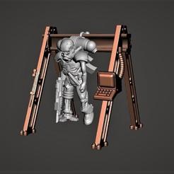 Descargar diseños 3D gratis Cyborg / Servidor 28mm Miniatura - En almacenamiento / Recarga, BigMrTong