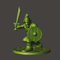 Download free 3D printer model 28mm - Orc / Goblin / Hobgoblin Miniature With Sword 1, BigMrTong