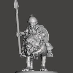 Download free 3D printer model 28mm - Orc / Goblin / Hobgoblin Wolf Rider Cavalry Miniature, BigMrTong