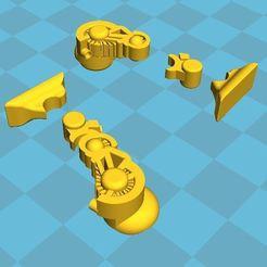Download free 3D printing templates Modular Legs for Robot Chuck, BigMrTong