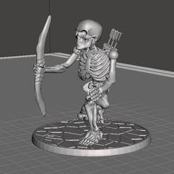 Descargar modelo 3D gratis 28mm Esqueleto Guerrero con Arco Largo, BigMrTong
