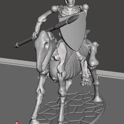7abcd6198f69e9379bc7a0a0b3226734_display_large.JPG Télécharger fichier STL gratuit Cavalerie Légère Squelette 28mm Guerrier Squelette avec Spear & Shield 2 • Plan pour imprimante 3D, BigMrTong