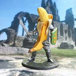 Descargar modelo 3D gratis 28mm Banana Knight v2, BigMrTong