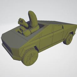 bananakart.JPG Download free STL file Elon Musk Tesla Cybertruck Banana approved - 28mm - BananaKart • 3D printer object, BigMrTong