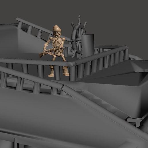 483656ecb9b7dd739b345c11a5ca097a_display_large.JPG Télécharger fichier STL gratuit Guerrier Squelette Pirate 28mm avec Pistolet Harpoon • Design pour impression 3D, BigMrTong