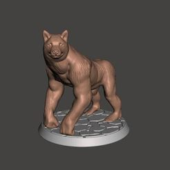 Download free STL file Ape Dog - Door Guard - 28mm • Design to 3D print, BigMrTong