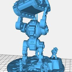 "Download free 3D printer templates Robot ""Chucking"" diorama, BigMrTong"