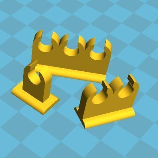 fd4c8e59b8a7add298869bd9fef2417c_display_large.JPG Download free STL file 6mm Aquarium Airline Clips / Camps to Mount and Tidy • Template to 3D print, BigMrTong
