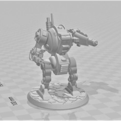Descargar STL gratis Furibundus Pattern Style Dreadnought - 28mm Robot Sci-Fi, BigMrTong