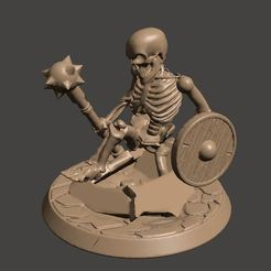 Descargar diseños 3D gratis 28mm Undead Skeleton Warriors - Rising from the Grave / Earth, BigMrTong
