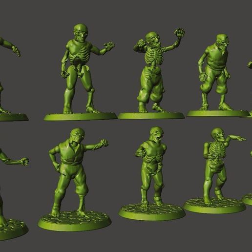Download Free 3D Printer Templates 28mm Zombie