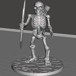 Descargar modelos 3D gratis 28mm Esqueleto Guerrero con Arco Largo 2, BigMrTong