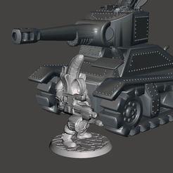 tank8.JPG Télécharger fichier STL gratuit 28mm Banana Space Guard avec arme lourde • Modèle à imprimer en 3D, BigMrTong