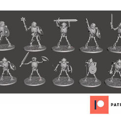 Download free 3D printer designs Skeleton Beastman Warriors - Melee Dog Soldiers, BigMrTong