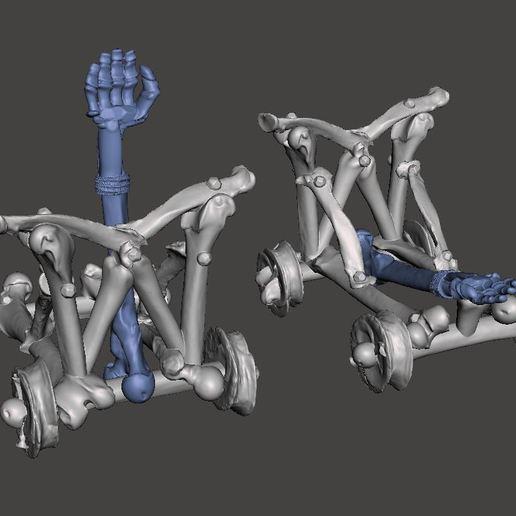 Chuker.JPG Télécharger fichier STL gratuit Catapulte squelette mort vivant - Warmachines • Plan pour impression 3D, BigMrTong