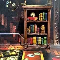 Descargar Modelos 3D para imprimir gratis Mansiones de la Locura - Estantería / Librería - 28mm, BigMrTong