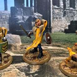 Download free 3D printer designs 28mm Banana Conscript Cultist - Banana Knight Cult, BigMrTong