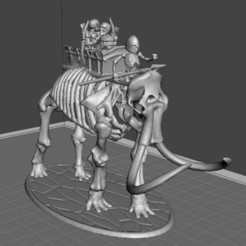 Download free 3D print files 28mm Skeleton Warrior Mammoth Behemoth Tank, BigMrTong