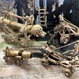 Download free STL Undead Skeleton Catapult - Warmachines, BigMrTong