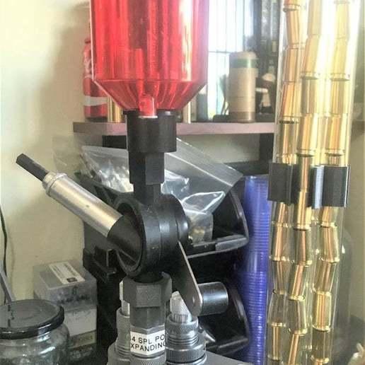 Download free 3D printer files Lee Precision Perfect Powder Measure to Powder Through Expanding Die Adaptor, BigMrTong