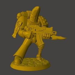 Download free 3D printer designs Veteran Banana Space Knight in Power Armour, BigMrTong