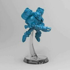 FLightBase.JPG Download free STL file 28mm Miniature Flight Base for Retro Space Men • 3D printer design, BigMrTong